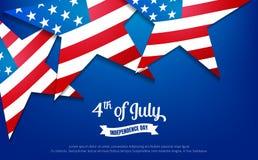 Viertel von Juli 4. der Juli-Feiertagsfahne USA-Unabhängigkeitstagfahne für Verkauf, Rabatt, Anzeige, Netz usw. lizenzfreie abbildung