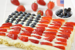 Viertel von Juli-Kuchen Stockfotos