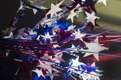 Viertel von Juli-Sternenbanner -extrahieren Hintergrund Stockfotos