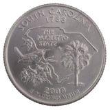 Vierteldollar von South Carolina Lizenzfreie Stockbilder