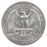 Vierteldollarmünze Stockbild