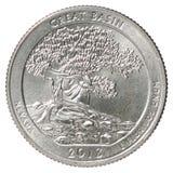 Vierteldollarmünze Stockbilder