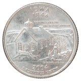 Vierteldollarmünze Stockfotos