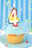 Vierter Geburtstag des Jungen Lizenzfreies Stockbild