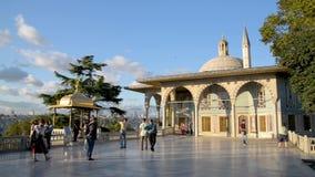 Vierter Hof von Topkapi-Palast, Istanbul, die Türkei stock footage