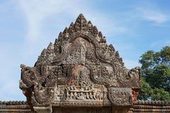 Viertes Gopura von Preah- Viheartempel, Kambodscha lizenzfreie stockfotos