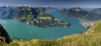 Vierwaldstättersee - lago in Svizzera Fotografia Stock Libera da Diritti