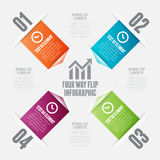 Vierwegsleichte schläge Infographic Stockbild