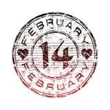 Vierzehn Februar-Stempel vektor abbildung