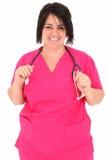 Vierzig Einjahreskrankenschwester Stockfoto