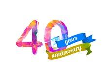40 vierzig Jahre Jahrestag vektor abbildung