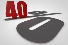 Vierzig Prozent 3d übertragen Lizenzfreies Stockbild
