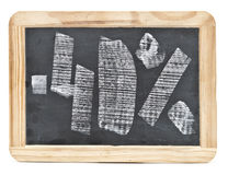 Vierzig-Prozent-Hand geschrieben Stockbild