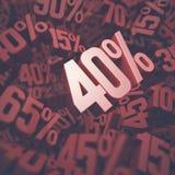 Vierzig-Prozent-Rabatt Lizenzfreie Stockbilder
