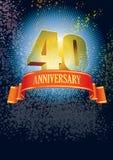 Vierzigster Jahrestag lizenzfreie abbildung