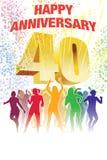 Vierzigster Jahrestag Lizenzfreies Stockbild