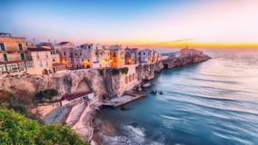 Vieste - beautiful coastal town in Puglia royalty free stock images