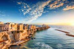 Vieste - beautiful coastal town on the rocks in Puglia. The church of San Francesco di Vieste. Gargano peninsula, Apulia, southern Italy, Europe stock photography