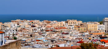 Vieste colorful building view. Royalty Free Stock Images