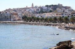 Vieste, een kleine visserijstad langs Adriatic, Italië Royalty-vrije Stock Foto's