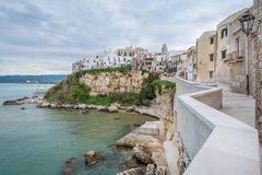 Vieste, the famous `Pearl of Gargano` in Foggia Province, Puglia, southern Italy. Stock Photography