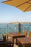 Vieste (Gargano, A, Italy) lighthouse from terrace Royalty Free Stock Photos