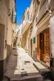Vieste, Gargano Peninsula, Apulia region, Italy. Narrow Street Of Vieste, Gargano Peninsula, Apulia region, Italy, Europe stock image