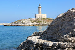 Vieste Lighthouse in the Adriatic Sea, Italy Stock Photos