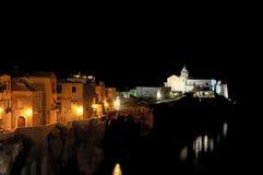 Vieste by night Royalty Free Stock Photo