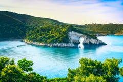 Vieste, San Felice arch rock bay, Gargano, Apulia, Italy. Stock Photos