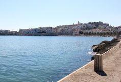 Vieste, a small fishing town, in Italy Royalty Free Stock Image