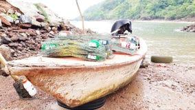 viet för nam för strandfartygdanang fiske Arkivbild