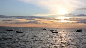 viet nam рыболовства danang шлюпки пляжа акции видеоматериалы