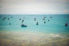 viet nam рыболовства danang шлюпки пляжа Стоковые Фото