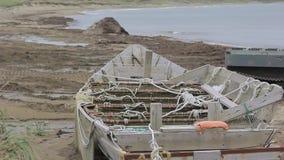 viet nam рыболовства danang шлюпки пляжа видеоматериал