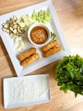 Viet nam food. Eating viet nam food with wasabi Royalty Free Stock Photography