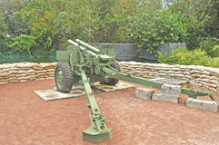 Viet Nam War:  155mm Howitzer Stock Photo