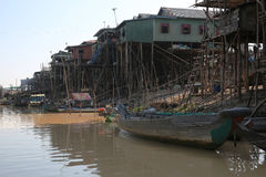 Vietamese  Floating Village Royalty Free Stock Images