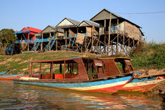Vietamese  Floating Village Royalty Free Stock Photos