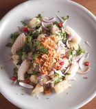 Vietham pomelo- och tioarmad bläckfisksaland Royaltyfri Foto