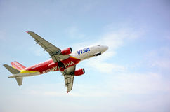Vietjet Air Airlines Flight. Stock Photo