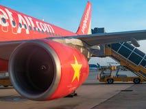 VietJet-Luft in Ho Chi Minh City Stockfotos