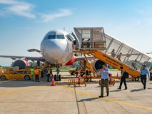 VietJet powietrze w Thanh Hoa, Wietnam Fotografia Royalty Free