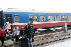 Vietman Hue Railway Station Royaltyfri Foto