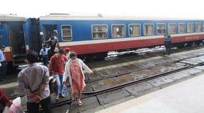 Vietman odcienia stacja kolejowa Zdjęcia Royalty Free