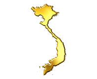 Vietnam 3d Golden Map Royalty Free Stock Image