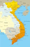 Vietnam. Vector map of Vietnam country Stock Images