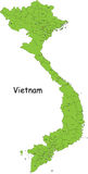 Vietnam. Map designed in illustration with the provinces and  the main cities. (Map is hight resolution Royalty Free Stock Images
