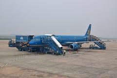 Vietnam Airlines är flaggabäraren av Vietnam Royaltyfria Bilder