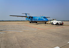 Vietnam Airlines plane landed in Siem Reap International Royalty Free Stock Image